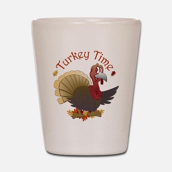Turkey Time Shot Glass