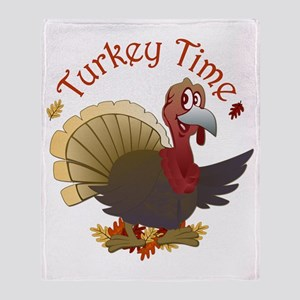 Turkey Time Throw Blanket