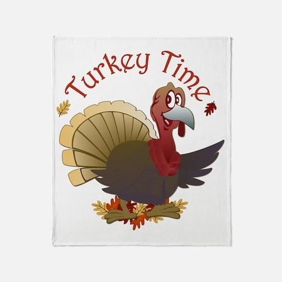 Turkey Time Throw Blanket