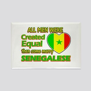 Senegalese wife designs Rectangle Magnet