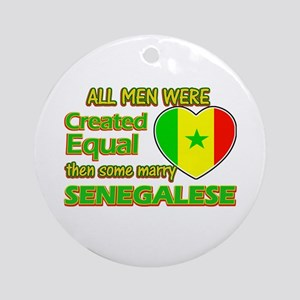 Senegalese wife designs Ornament (Round)