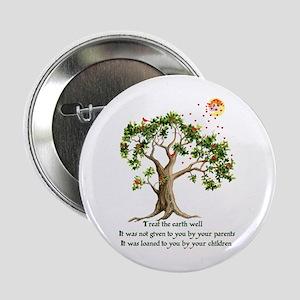 "Kenyan Nature Proverb 2.25"" Button"