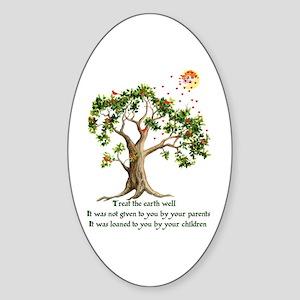 Kenyan Nature Proverb Oval Sticker
