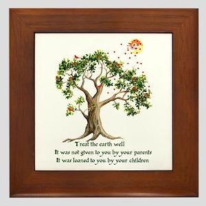Kenyan Nature Proverb Framed Tile