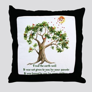 Kenyan Nature Proverb Throw Pillow