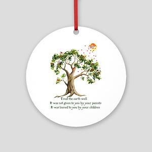 Kenyan Nature Proverb Ornament (Round)