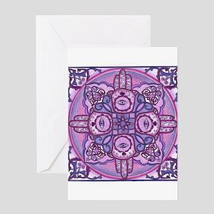 Hand of Fatima Mandala Greeting Card