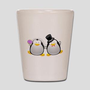 Penguin Bride and Groom Shot Glass