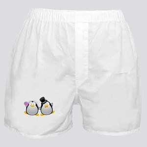 Penguin Bride and Groom Boxer Shorts