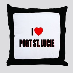 I Love Port St. Lucie, Florid Throw Pillow