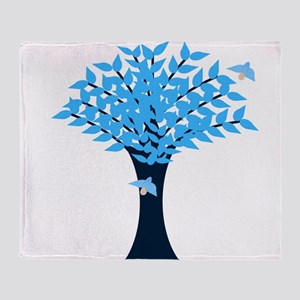 Bluebird Tree Throw Blanket