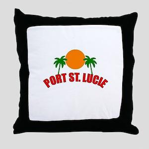 Port St. Lucie, Florida Throw Pillow