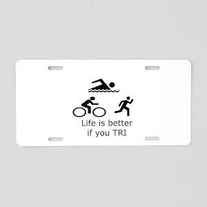 tri-life Aluminum License Plate