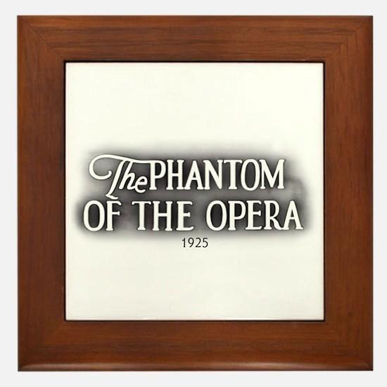 The Phantom of the Opera 1925 Framed Tile