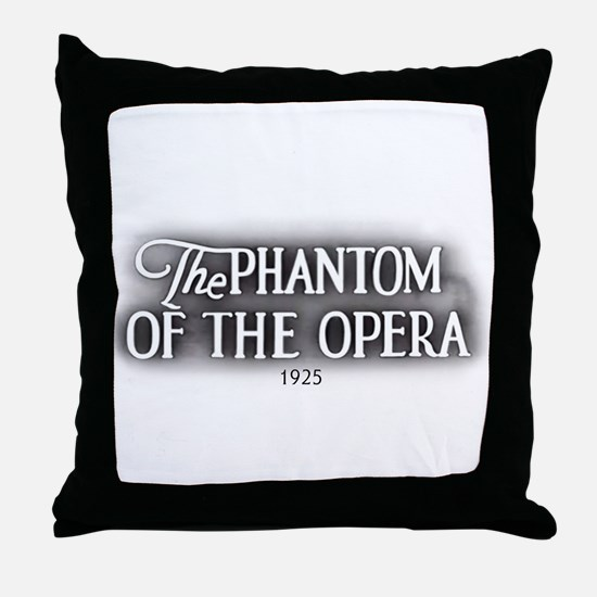 The Phantom of the Opera 1925 Throw Pillow