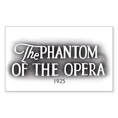 The Phantom of the Opera 1925 Rectangular Sticker