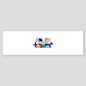 C-SNIP Cat Dog Bumper Sticker