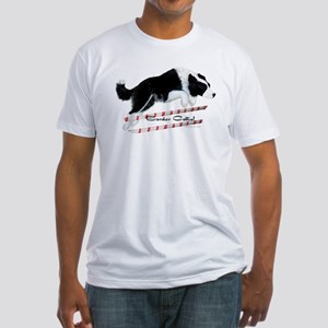 Border Collie Jump Fitted T-Shirt