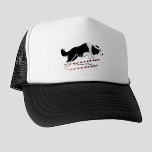Border Collie Jump Trucker Hat