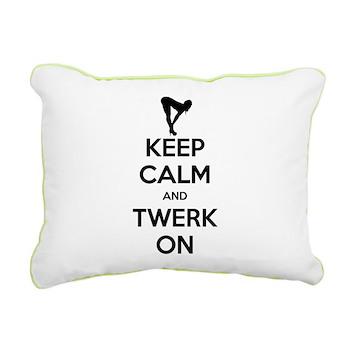 Keep Calm and Twerk On Rectangular Canvas Pillow