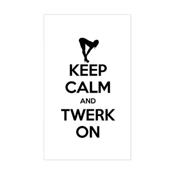 Keep Calm and Twerk On Rectangle Sticker