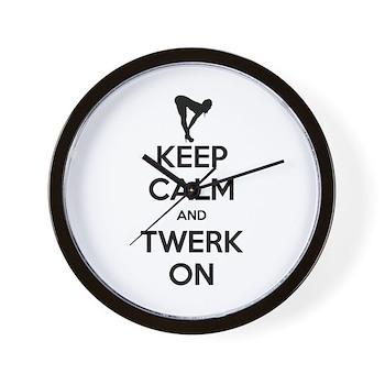 Keep Calm and Twerk On Wall Clock