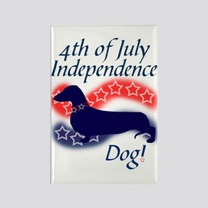 Independence Doxie! Rectangle Magnet