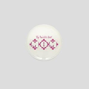 World's Best Mom - Heart Petals Mini Button