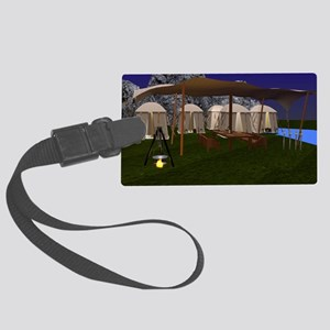 Medival Camp Large Luggage Tag