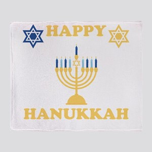 Happy Hanukkah Throw Blanket