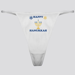 Happy Hanukkah Classic Thong