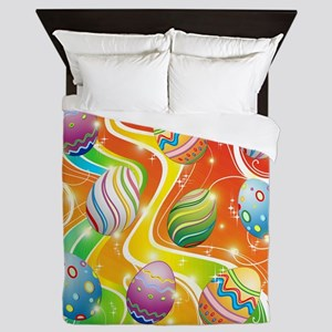 Happy Easter Eggs Design Queen Duvet