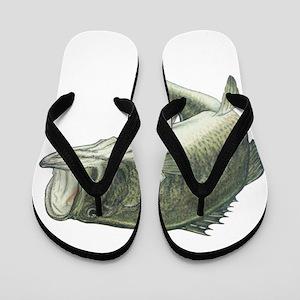 40e3f8655d8d0c Largemouth Bass Flip Flops - CafePress