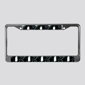 Little Ghost License Plate Frame