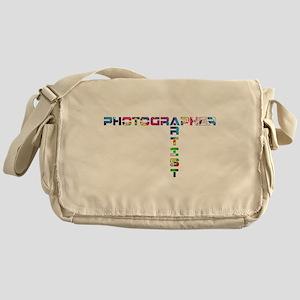 PHOTOGRAPHER-ARTIST-COLOR Messenger Bag