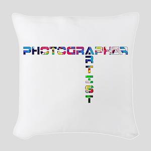 PHOTOGRAPHER-ARTIST-COLOR Woven Throw Pillow