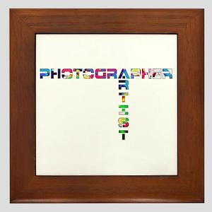 PHOTOGRAPHER-ARTIST-COLOR Framed Tile