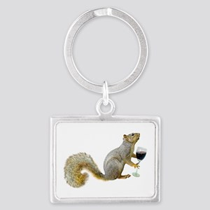 Squirrel with Wine Keychains