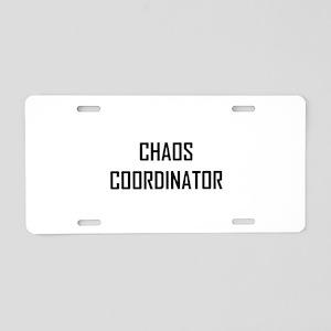 Chaos Coordinator Aluminum License Plate