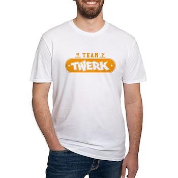 Neon Orange Team Twerk Fitted T-Shirt
