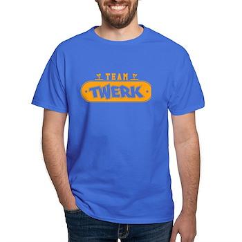 Neon Orange Team Twerk Dark T-Shirt