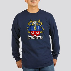 McLaughlin Coat of Arms Long Sleeve Dark T-Shirt