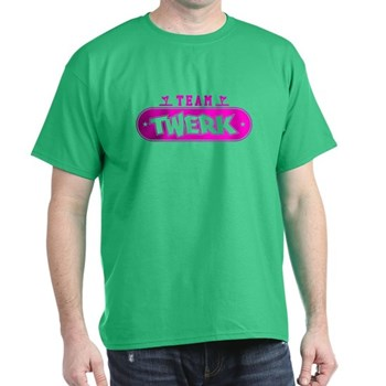 Neon Pink Team Twerk Dark T-Shirt