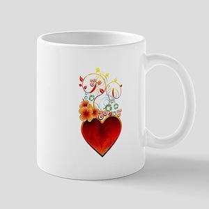 Valentine Floral Heart Love Mug