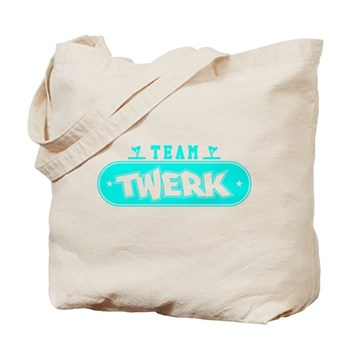 Neon Turquoise Team Twerk Tote Bag