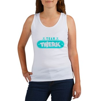 Neon Turquoise Team Twerk Women's Tank Top
