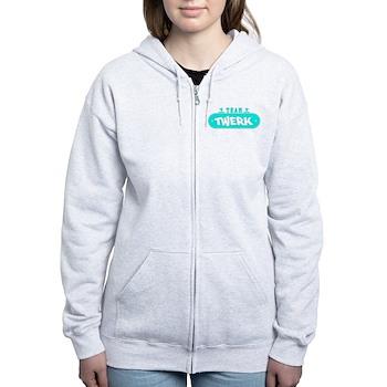Neon Turquoise Team Twerk Women's Zip Hoodie