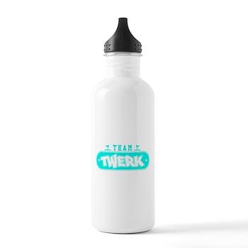Neon Turquoise Team Twerk Stainless Water Bottle 1