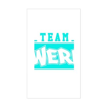 Neon Turquoise Team Twerk Rectangle Sticker