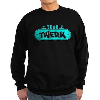 Neon Turquoise Team Twerk Dark Sweatshirt